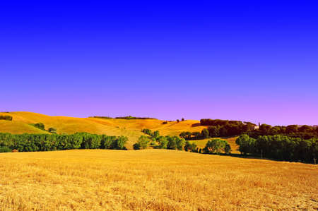 Farmhouse Surrounded By Sloping Meadows Of Tuscany Stock Photo - 10658550