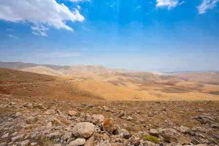 Meandering Road In Sand Hills of Samaria, Israel Stock Photo - 10658552