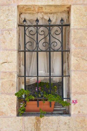 Israel Window Decorated With Fresh Flowers Stock Photo - 10930130