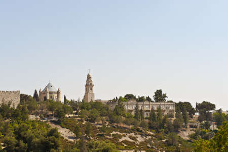 Church Of  Dormition And Bell-Tower On Mount Zion Stock Photo - 11354807