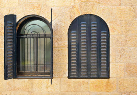 Open and Closed Windows in Jerusalem, Israel photo