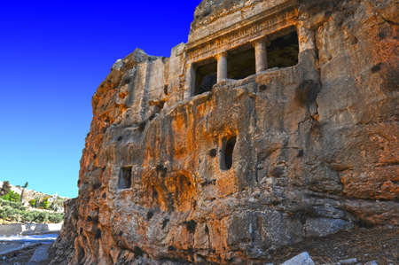 The Tomb Of Zechariah Is an Ancient Stone Monument in Jerusalem photo