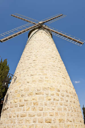 Montefiore Windmill in Jerusalem, Israel photo