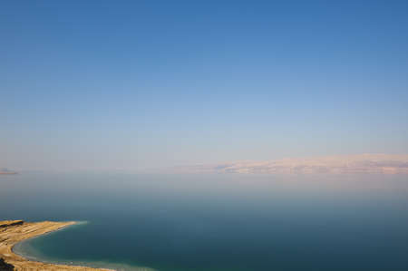 Salt On The Rocks In Dead Sea, Israel, Sunset photo