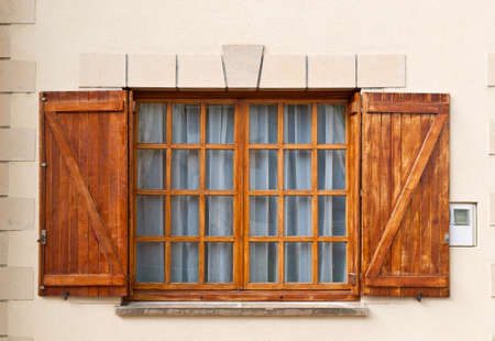 Closed Window with Shutter in Spanish Town Stock Photo - 11671816