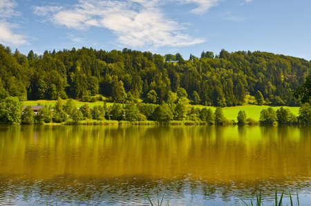 The House on the Shore of Lake in the Bavarian Alps photo