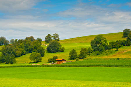 woodshed: Bavarian Landscape with Woodshed, Germany