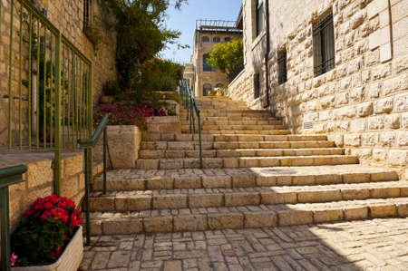Area Of Old Restored Jerusalem on a Sunny Day photo