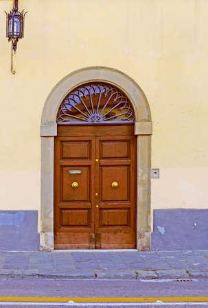 castings: Close-up Image Of Wooden Ancient Italian Door Stock Photo
