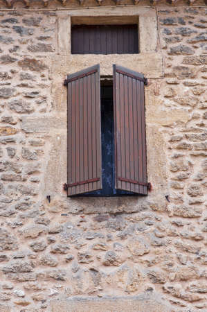 Window in Viviers, the Department de l Stock Photo - 12396149