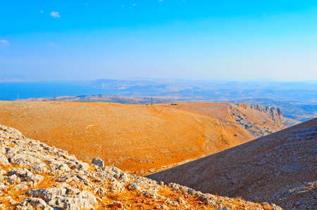 View from Galilee Mountains to Galilee Sea, Kinneret. photo