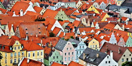 Birds Eye View on the Bavarian Town of Landshut, Germany photo