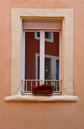 French Window  Decorated with Fresh Flowers Stock Photo - 12396307