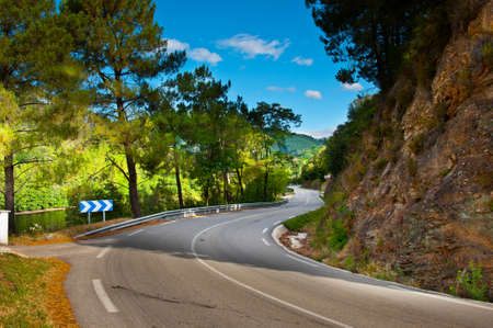 Asphalt Road in the French Alps Stock Photo