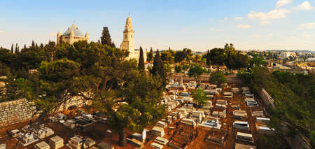 Church of  Dormition and Armenian Cemetery on Mount Zion Stock Photo - 12396367