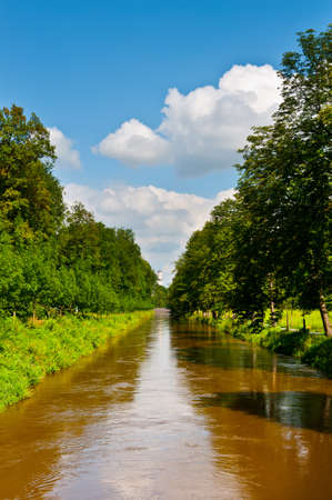 Straight Irrigation Canal in Southern Bavaria photo