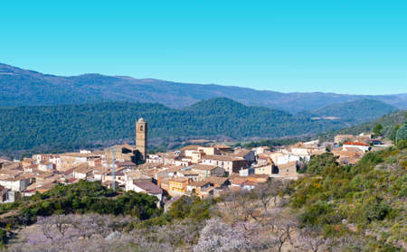 Little Spanish Medieval Town on the Slopes of the Pyrenees photo