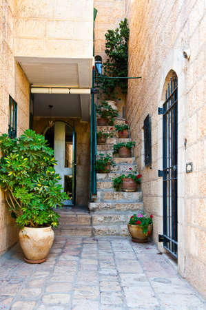 resplendence: Detail of the Facade of Israel Home Decorated with Flowers