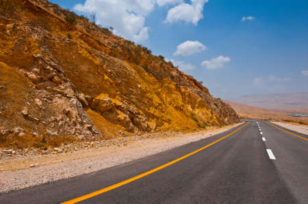 Asphalt Road in Sand Hills of Samaria, Israel Stock Photo - 12771229