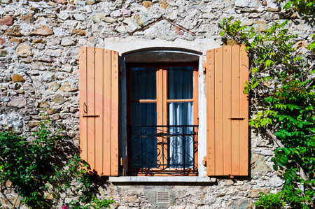 castings: The Window on the Facade of  French Stone House