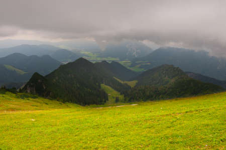 View to the City in the Bavarian Alps, Rainy Weather Stock Photo - 12938960