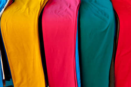 Colored Pants on the Counter for Sale photo