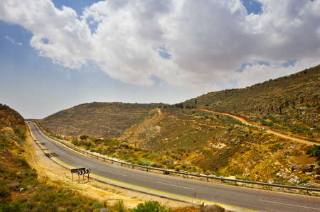 Meandering Road in Sand Hills of Samaria, Israel Stock Photo - 12939122