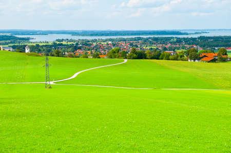 Meadow near Bavarian Lake Chiemsee Stock Photo - 12939331