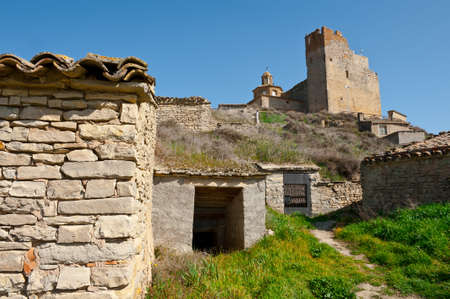 The Ruins of the Medieval Spanish Town of Almudevar photo