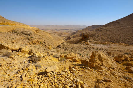 canyon negev: Big Stones of Grand Crater in  Negev Desert, Israel