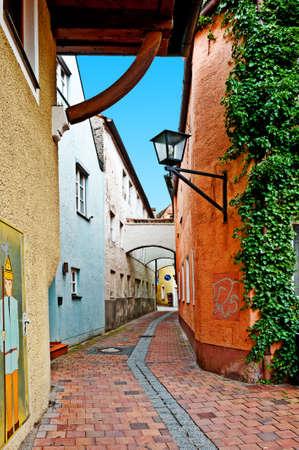Narrow Alley of Bavarian Town  Landshut photo