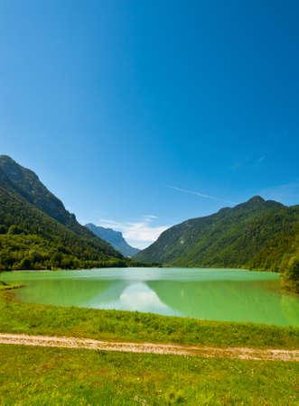 Lake Saalachsee in the Bavarian Alps photo