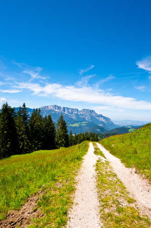 Dirt Road in the Bavarian Alps, Germany Stock Photo - 13014319