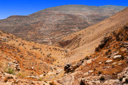 harsh: Harsh Mountainous Terrain in the West Bank, Israel