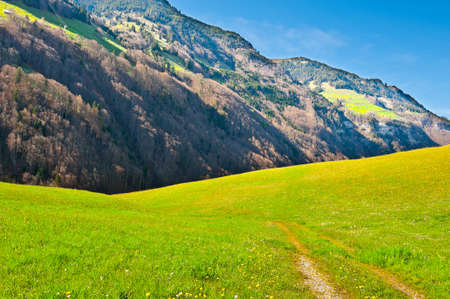 The Small Village High Up in the Swiss Alps Stock Photo - 13949326
