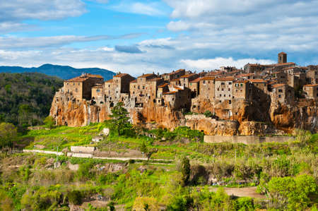 Pitigliano- Medieval Town Located on the Rock, Italy
