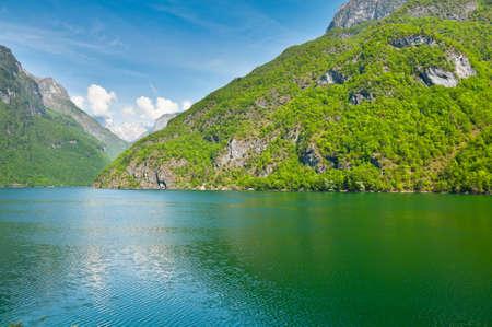 Lake Lago del Mis in the Dolomites photo