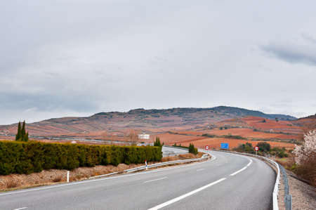 Winding Mountain Road in the Spanish Pyrenees photo