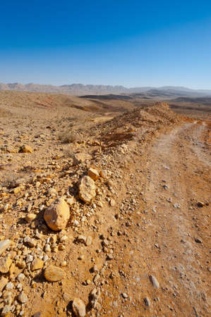 Big Stones of Grand Crater in Negev Desert, Israel photo