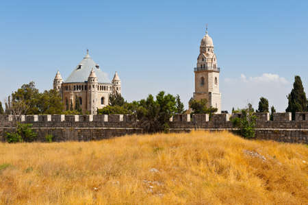 Church of Dormition and Bell-Tower On Mount Zion Stock Photo - 14387056