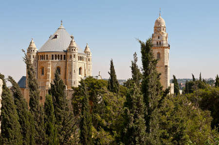Church of Dormition and Bell-Tower on Mount Zion Stock Photo - 14571301