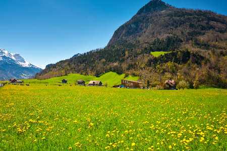 The Small Village High Up in the Swiss Alps Stock Photo - 14571311