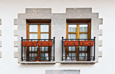 The Renovated Facade of the Old Spanish House Stock Photo - 14571253