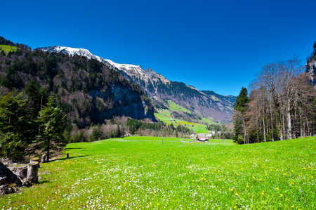 The Small Village High Up in the Swiss Alps Stock Photo - 14571204