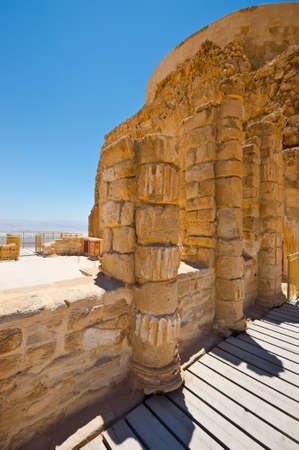 Ruins of the Fortress Masada, Israel  photo