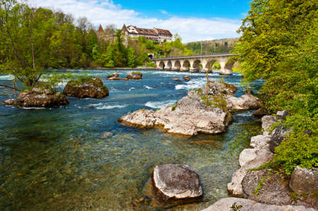 Railway Bridge over the Rhine, Switzerland Stock Photo - 14609717