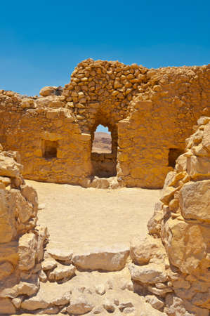 Ruins of the Fortress Masada, Israel  photo