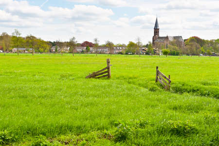 Meadows on the Outskirts of a Small Dutch Town photo