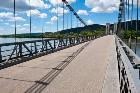 clincher: Cable-stayed Bridge over the River Rhone, France