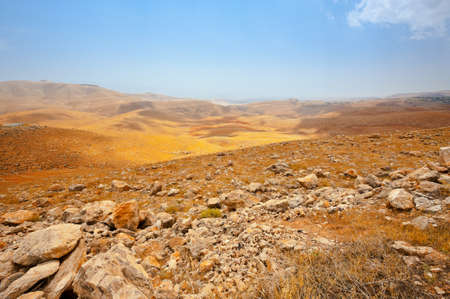 and israel: Big Stones in Sand Hills of Samaria, Israel